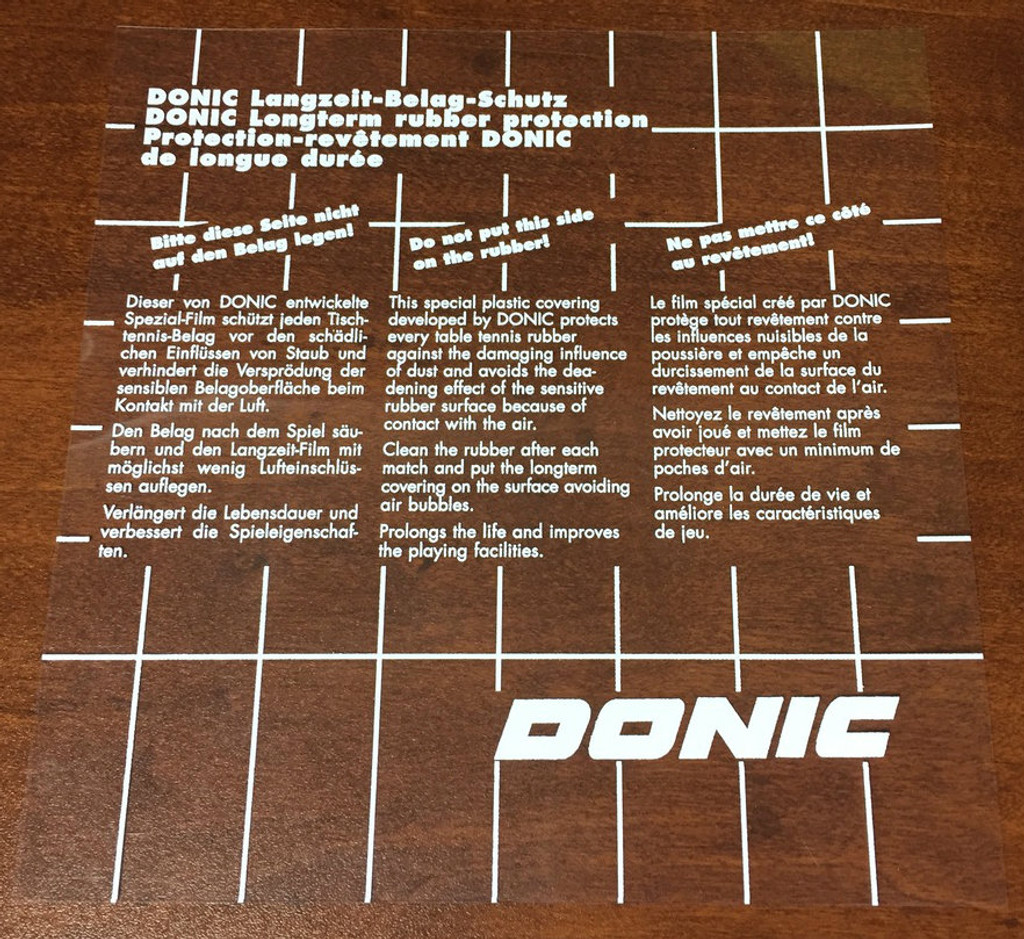 DONIC Protective Sheet Ping Pong Depot Table Tennis Equipment