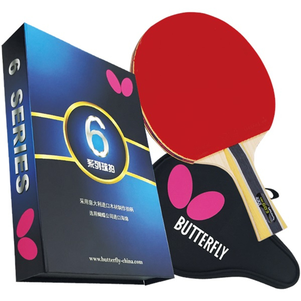 Butterfly 603 FL Racket Set and Cover - Ping-Pong Depot