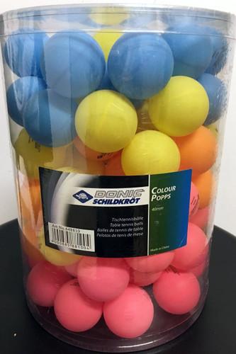 DONIC-Schildkröt Multicolour Popps Balls (90)