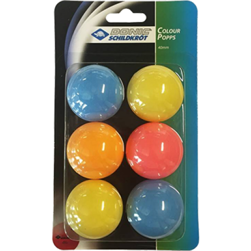 DONIC-Schildkröt Color Popps Balls (pack of 6)