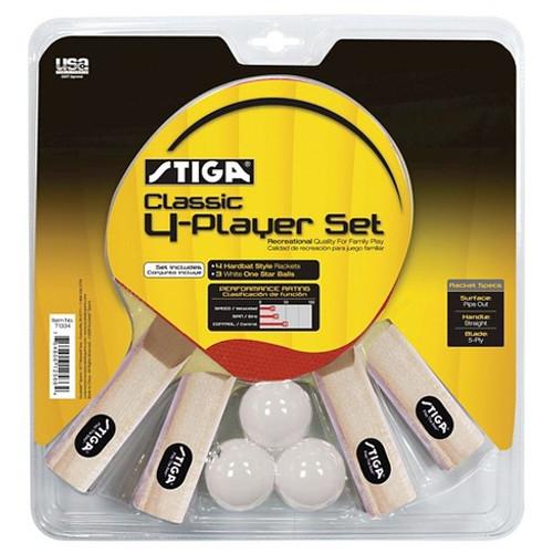 STIGA Classic Four-Player Racket Set