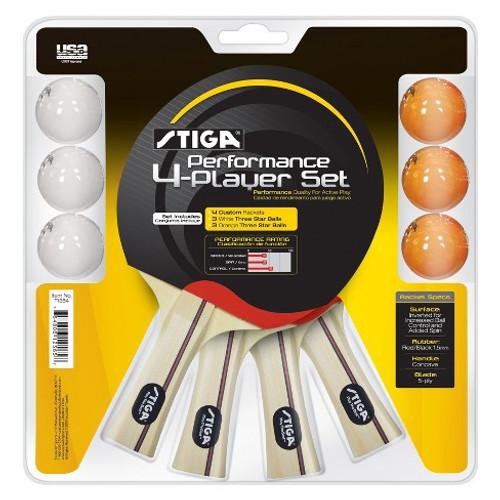 STIGA Performance Four-Player Racket Set