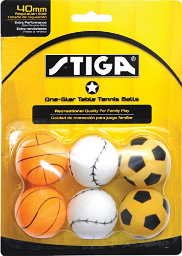STIGA 1* Sport Motif Balls (pack of 6) - Bulk Price