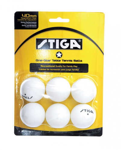 STIGA 1* Balls (pack of 6) - Bulk Price
