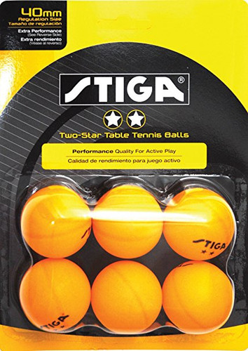 STIGA 2* Balls (pack of 6) - Bulk Price