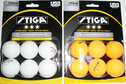 STIGA 3* Balls (pack of 6) - Bulk Price