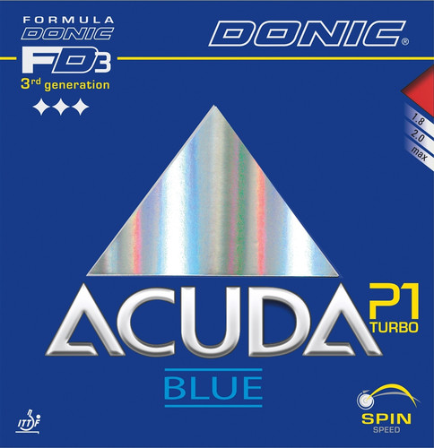 Donic Acuda Blue P1 Turbo Rubber Ping Pong Depot Table Tennis Equipment
