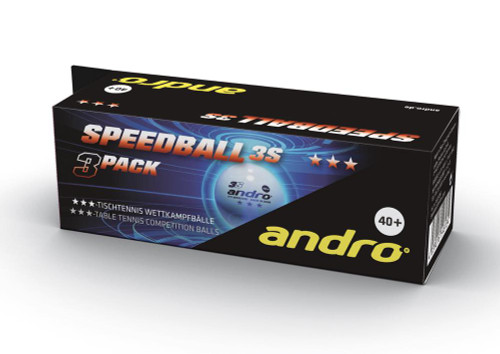 andro Speedball 3S*** White Balls (3) Ping Pong Depot Table Tennis Equipment