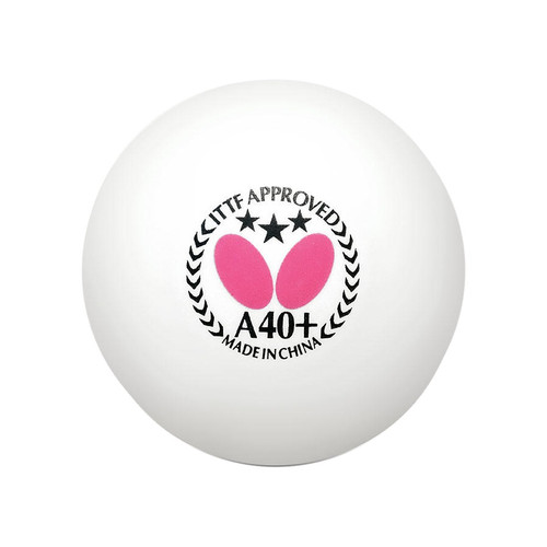 Butterfly A40+ 3* ABS Balls (3) White