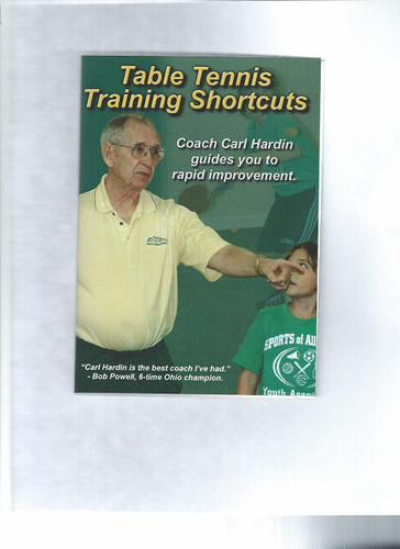 Table Tennis Training Shortcuts by Carl Hardin DVD