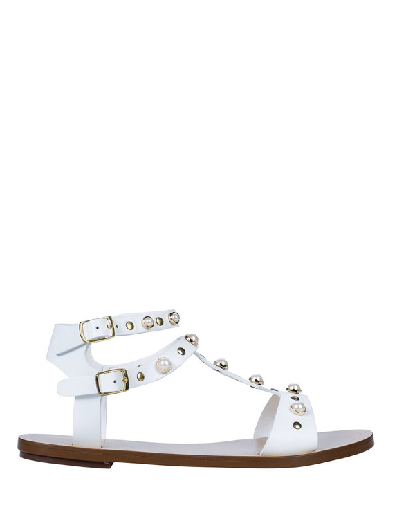 By Bianca 2211bb Isla Sandal White side view