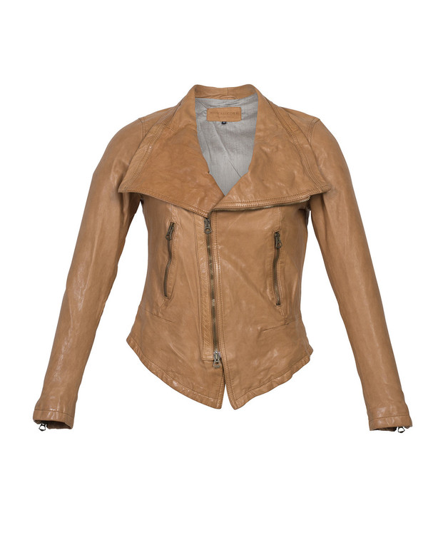 Bianca Buccheri Zuzzu Leather Jacket Tan