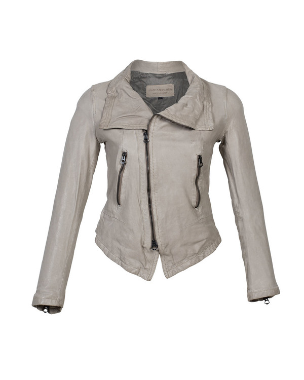 Bianca Buccheri Zuzzu Leather Jacket Taupe