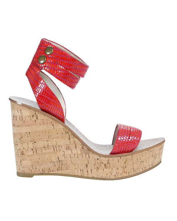 By Bianca 055702bb Santorini Wedge Coral
