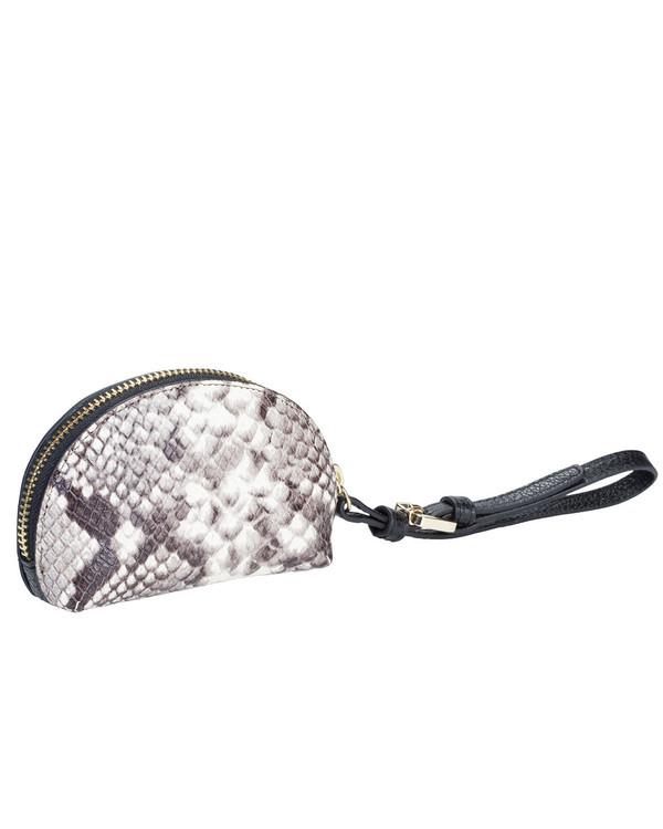 Gianni Chiarini Coinpurse Leather Bag Black Snake