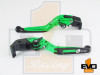 Triumph TIGER 800 / XC 2011-2013 Brake & Clutch Fold & Extend Levers - Green