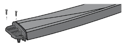1010009A00  - AquaLeader Allegro All Resin Top Rail For All Round Pools