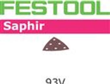 Festool Saphir   93mm Delta   80 Grit   Pack of 25 (487518)