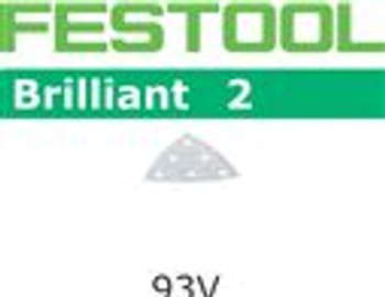 Festool Brilliant 2 | 93mm Delta | 400 Grit | Pack of 100 (492893)