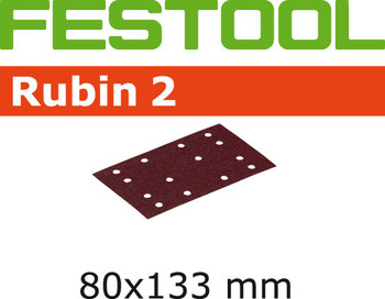 Festool Rubin 2 | 80 x 133 | 100 Grit | Pack of 50 (499049)
