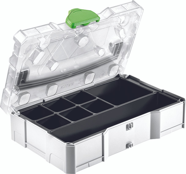 Festool NEW SYS Mini T-Loc Empty Systainer w/ Clear Lid & Insert (203821)