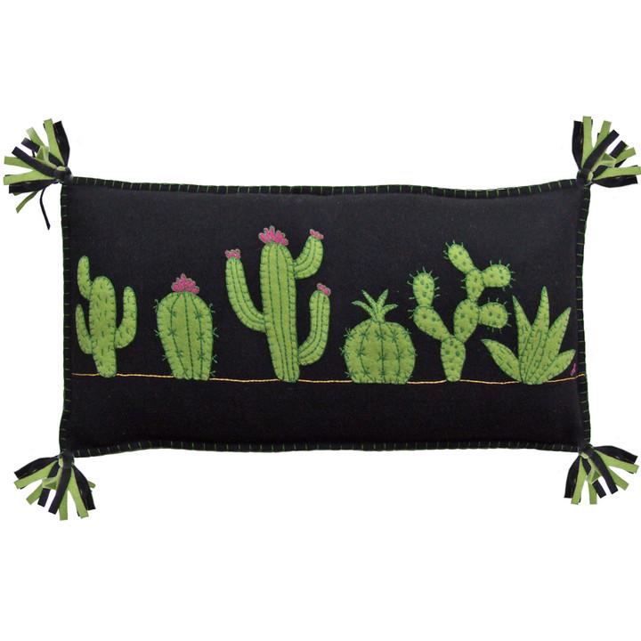 Jan Constantine Fiesta Cactus Cushion (Black)