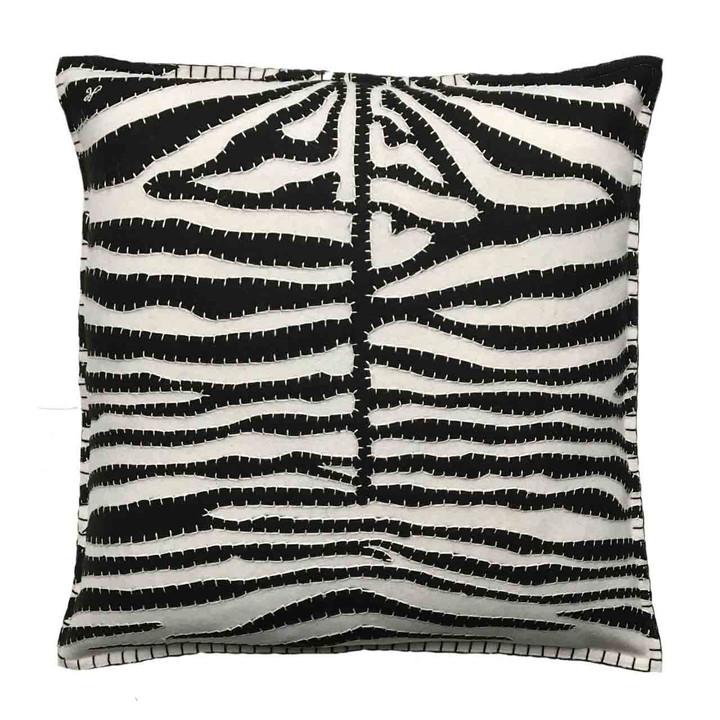 Jan Constantine Zebra Skin Cushion (Cream)