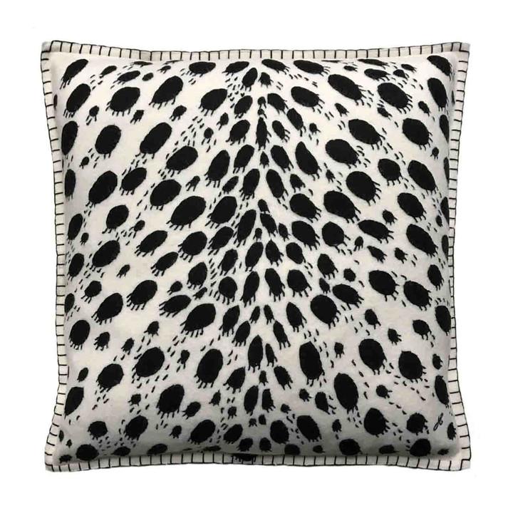 Jan Constantine Cheetah Skin Cushion (Cream)