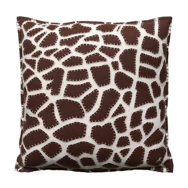 Jan Constantine Giraffe Skin Cushion (Cream)