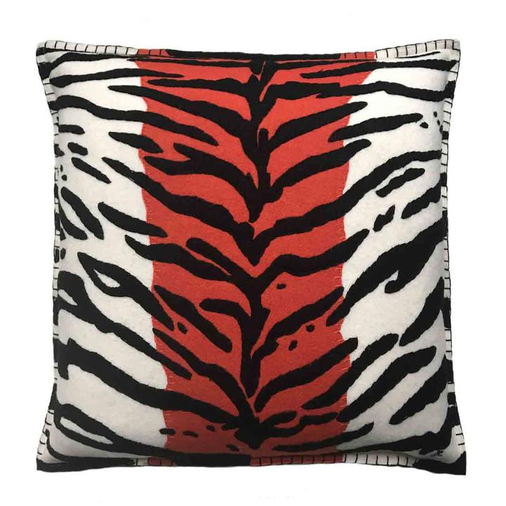 Jan Constantine Tiger Skin Cushion (Cream)