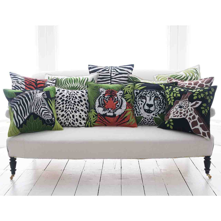 Jan Constantine Tiger Cushion (Black)