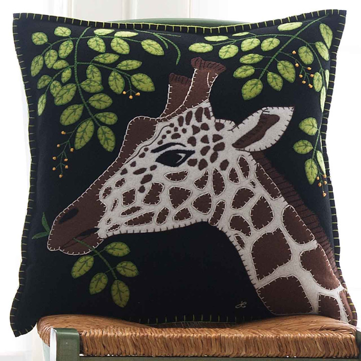 Jan Constantine Giraffe Cushion (Black)