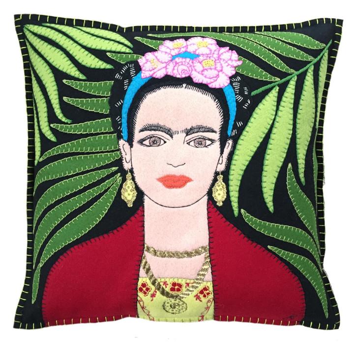 The Jan Constantine Frida Kahlo Cushion (Black)
