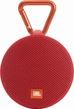 JBL Clip 2 Portable Bluetooth Speaker - Red