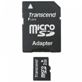 Transcend 2GB microSD Memory Card with SD Adapter
