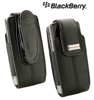 Original BlackBerry Pearl Series Leather Swivel Holster