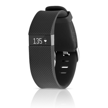 Fitbit Charge HR Activity, Heart Rate + Sleep Wristband (Large, Black)