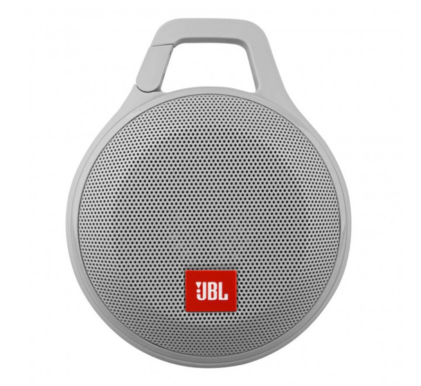 JBL Clip+ Splashproof Portable Bluetooth Speaker (Gray)