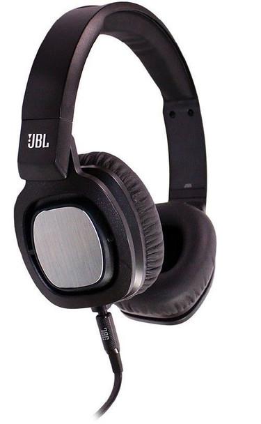 JBL J55 Black On-Ear Headphones Ear-Cups and Microphone