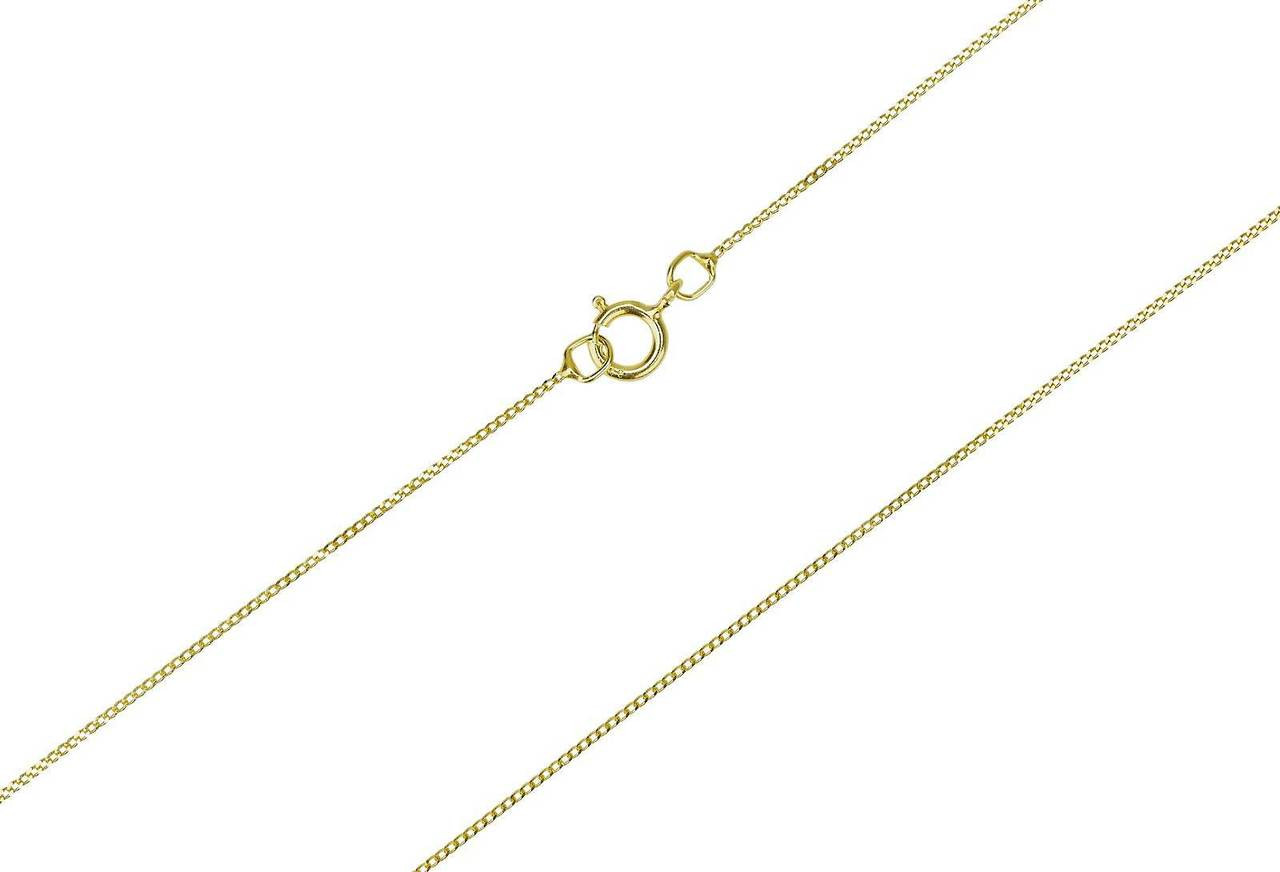 9ct yellow gold girls diamond cut curb necklace chain 14 inch 35cm girls real 9ct gold 14 inch chain aloadofball Images