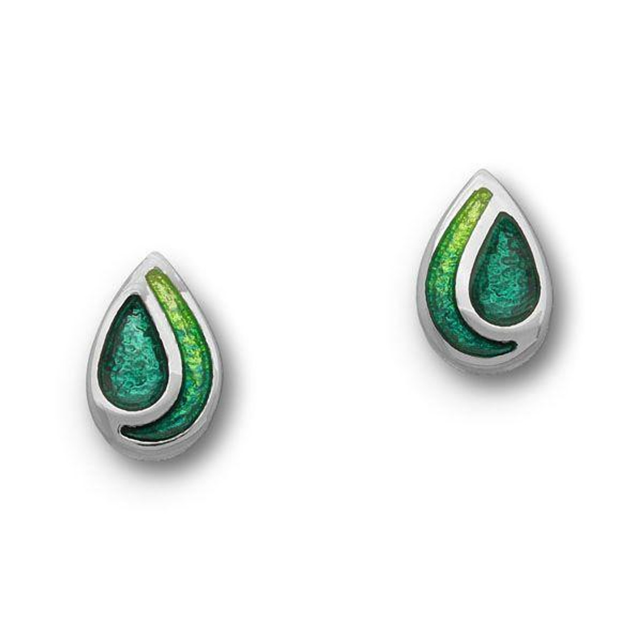 swarovski earrings il products stud dark green emerald dm desirez little bridal bridesmaid jewelry fullxfull