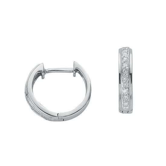 9ct White Gold 0.10ct Diamond Earrings