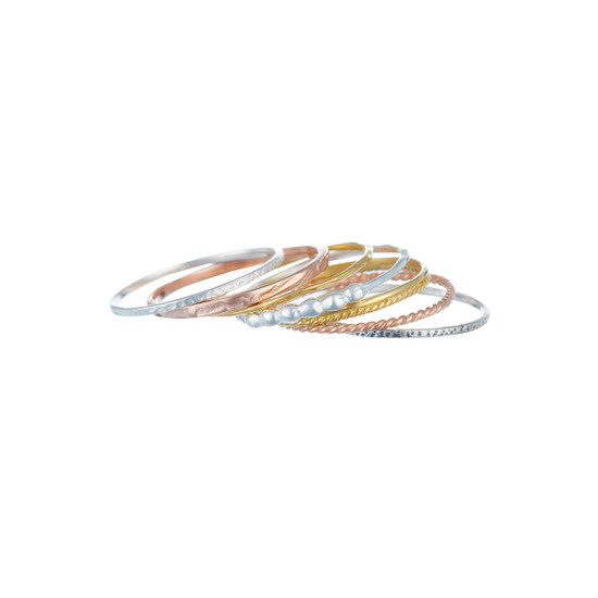 Seven fashionable stacking Rings