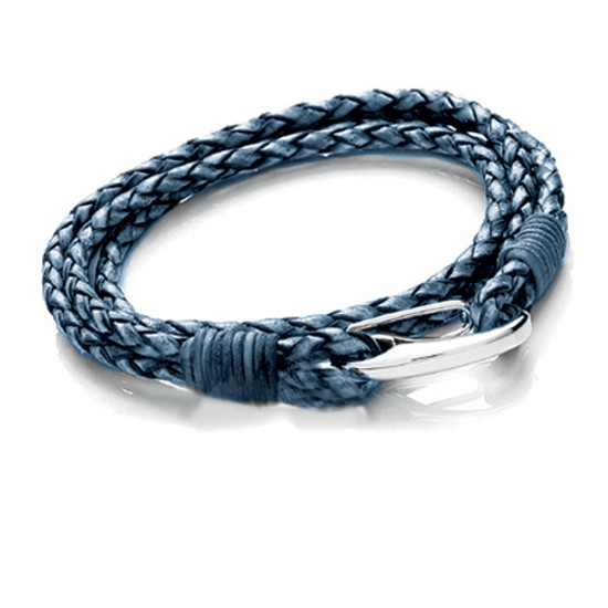 Tribal Steel Denim Bracelet