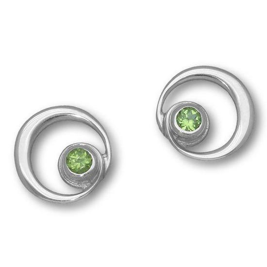 Ortak-Silver-Peridot-Earrings
