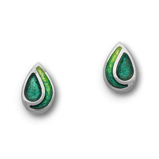 Ortak Cedar Emerald Green Stud Earrings - ee351