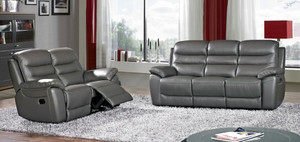 Rimini Grey Leather Sofas