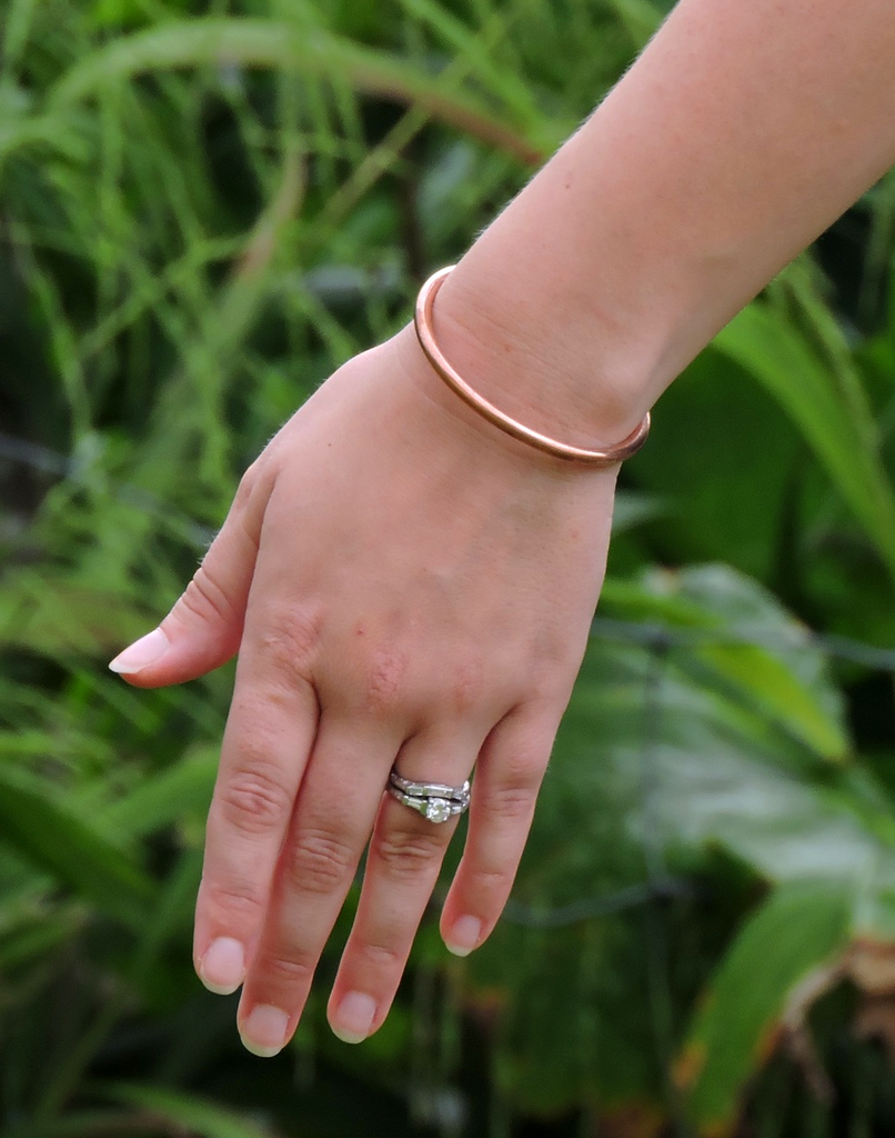 Simple Rounded Copper Cuff - Style 11
