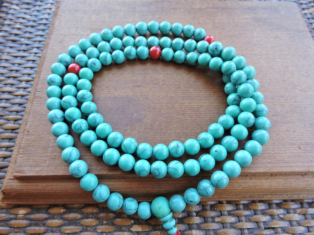 Tibetan Turquoise Mala 108 Beads