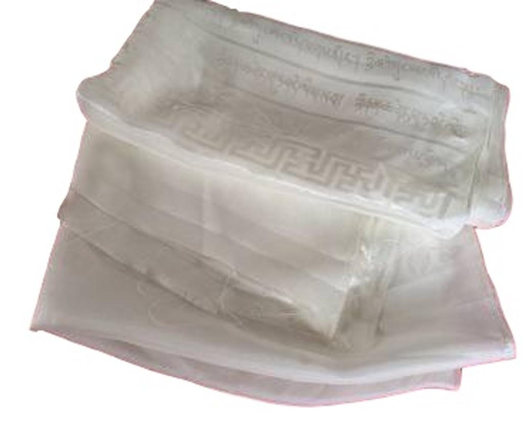 High Quality Tibetan Prayer scarf Kata White